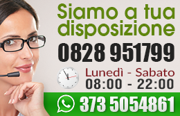 Contattaci dal Luned'ì al Sabato - dalle 8:00 alle 22:00